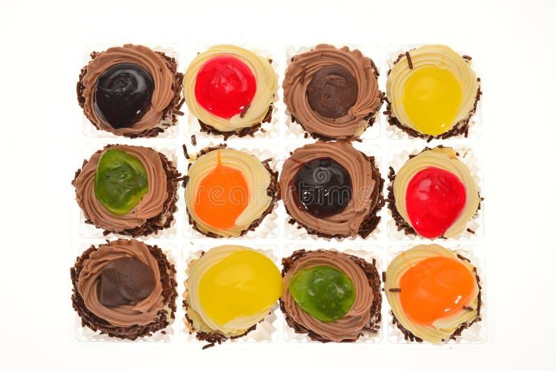 Bunter Mini Cup Cakes stockfotografie