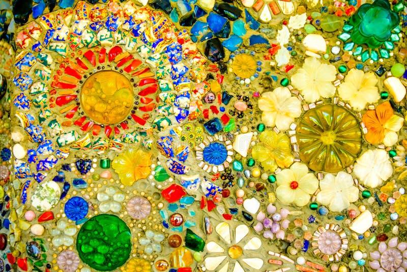 Bunter Mosaikmusterhintergrund Gemacht von keramischem stockfotografie