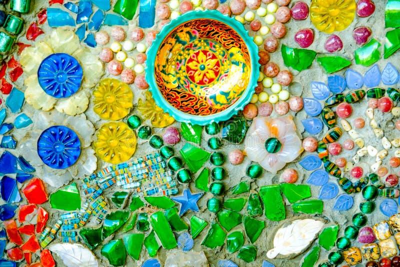 Bunter Mosaikmusterhintergrund Gemacht von keramischem lizenzfreies stockbild