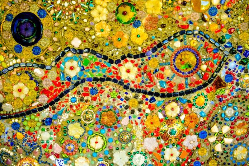 Bunter Mosaikmusterhintergrund Gemacht von keramischem stockbild