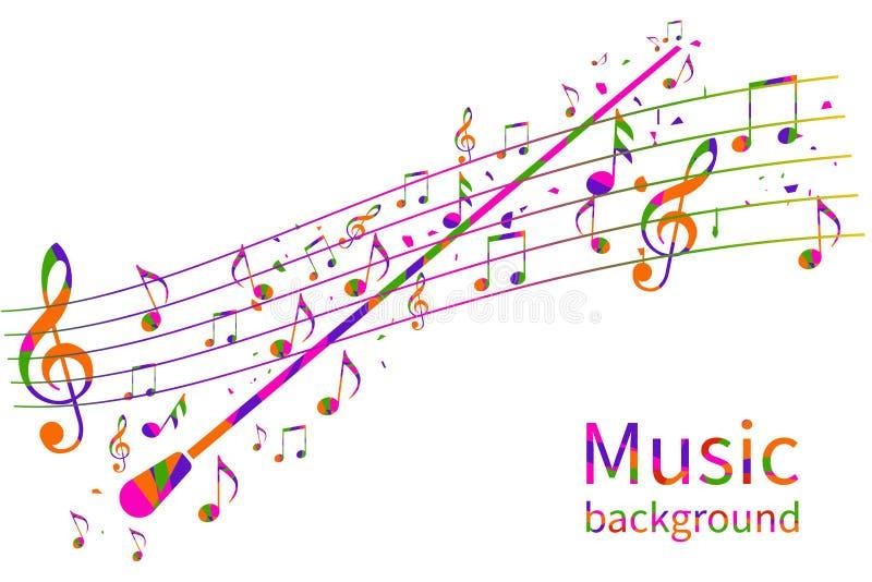 Bunter Musik-Hintergrund Abstraktes Leiterorchester stock abbildung