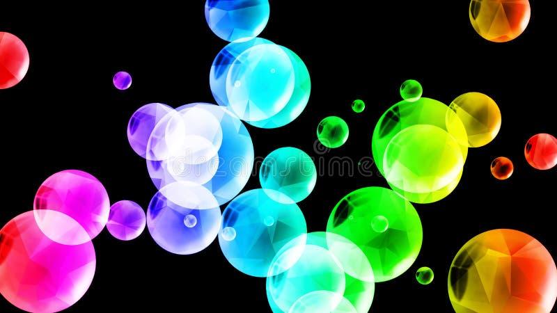 Bunter polygonaler Blasenhintergrund stock abbildung