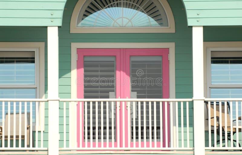 Bunter Portalbereich von einem Pensacola, Florida Haus stockfotografie