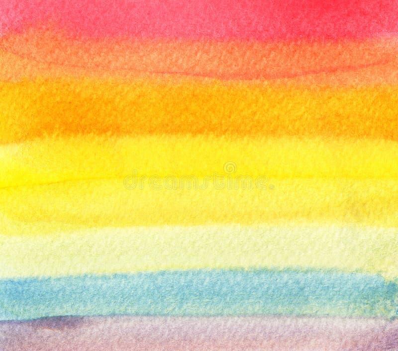 Bunter Regenbogenaquarellhintergrund - abstrakte Beschaffenheit vektor abbildung