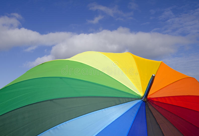 Download Bunter Regenschirm stockfoto. Bild von sonnenschirm, bunt - 27730914