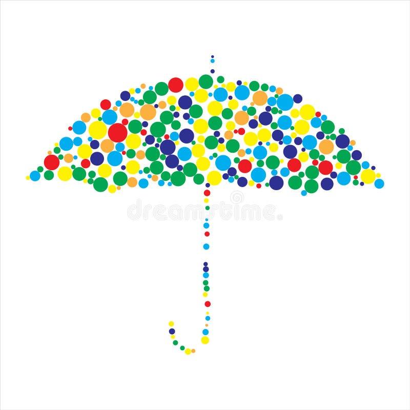 Bunter Regenschirm stock abbildung