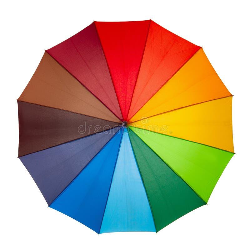 Download Bunter Regenschirm Getrennt Stockfoto - Bild von niemand, wasser: 26373708