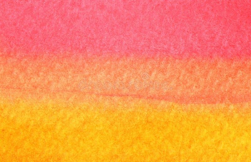 Bunter roter und orange Aquarellhintergrund - abstrakte Beschaffenheit vektor abbildung