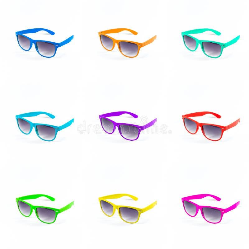 Bunter Satz Sonnenbrille lizenzfreie stockfotos