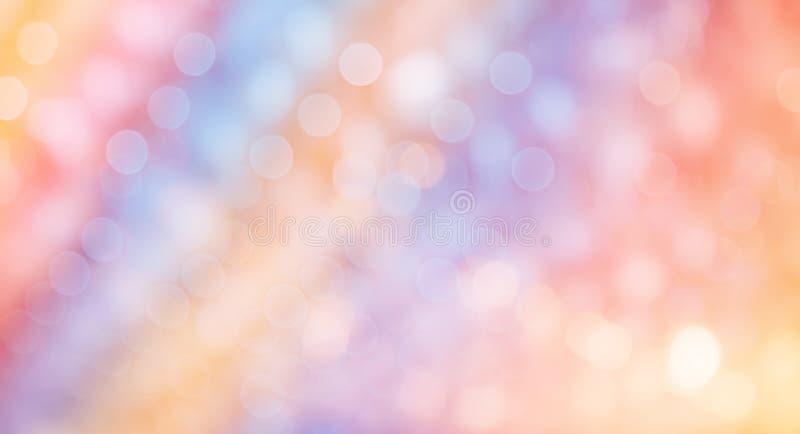 Bunter schöner Steigungs-Hintergrund mit bokeh stockfoto