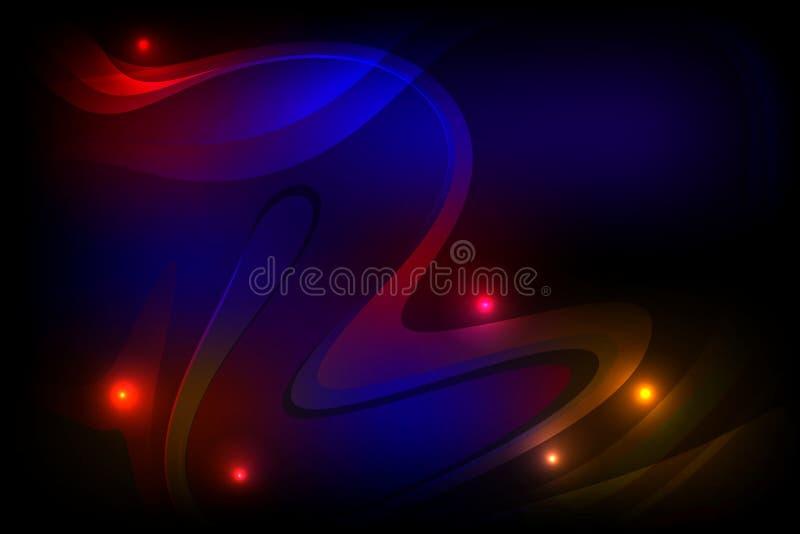 Bunter schattierter gewellter Hintergrund des abstrakten Vektors mit dem Lichteffekt, glatt, Kurve, Vektorillustration lizenzfreie abbildung