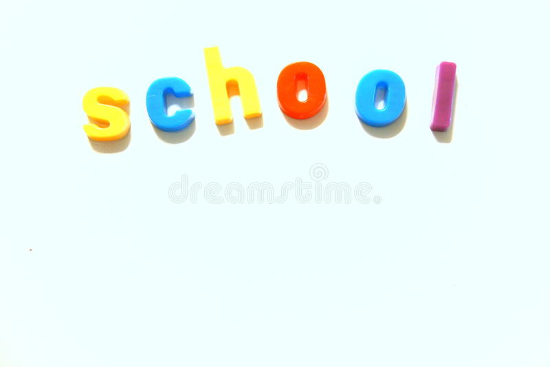 Bunter Schuleauszug lizenzfreies stockbild