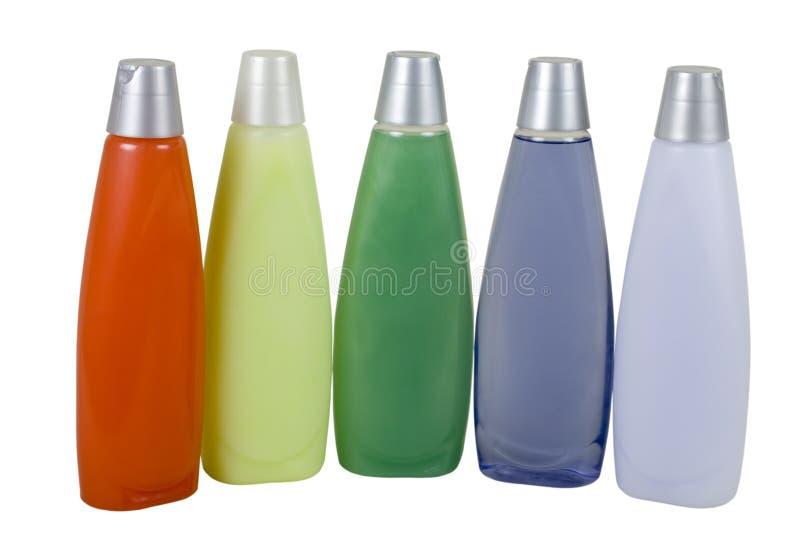 Bunter Signalformer und Shampoo stockfoto