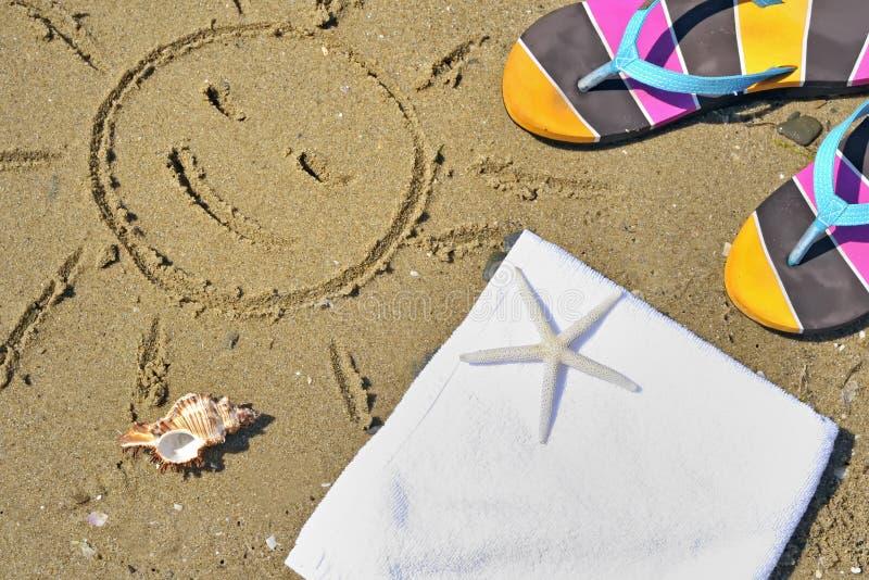 Bunter Sommer Beachwear stockbild