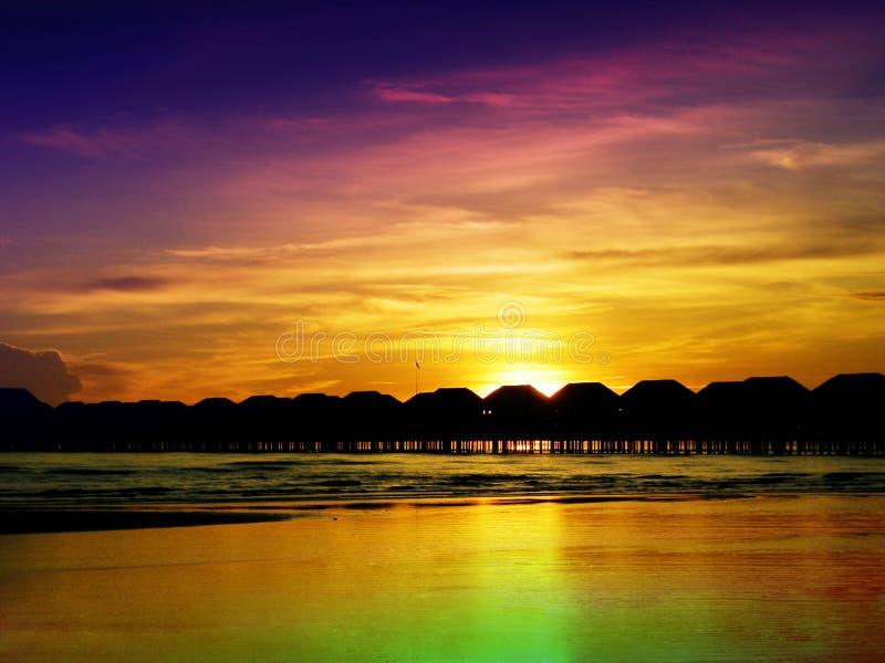 Bunter Sonnenuntergang lizenzfreie stockfotos