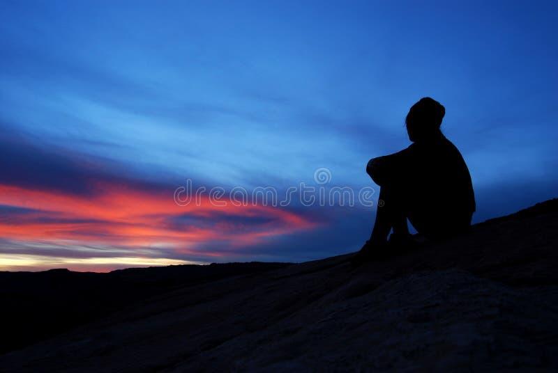 Bunter Sonnenuntergang am Bogen-Nationalpark stockbild