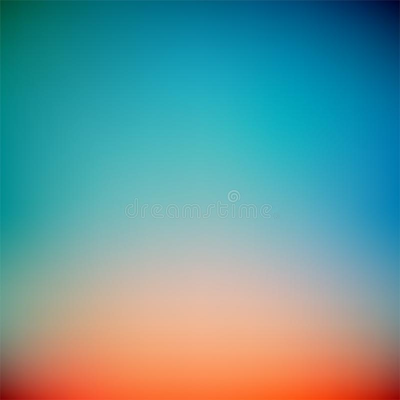 Bunter Sonnenuntergang-Steigungs-Vektor-Hintergrund, einfache Form und Mischung von Farbraumen als zeitgenössischer Hintergrundgr lizenzfreie abbildung