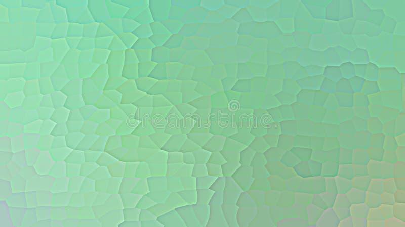 Bunter Steigungsgrünentwurf Moderne Fahne der niedrigen geometrischen Polyform lizenzfreies stockbild