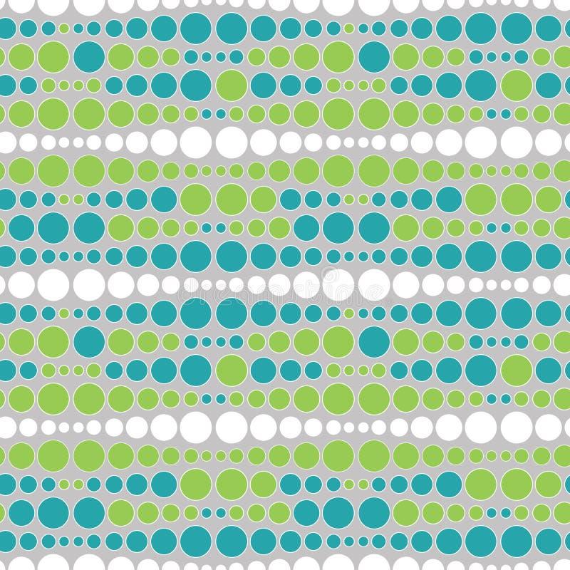Bunter Stufenbarren des nahtlosen Musters des Punktvektors Mehrfarbige runde Stellen masern abstrakten geometrischen Hintergrund lizenzfreie abbildung