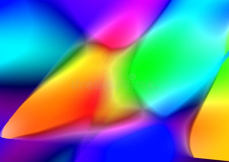 Bunter Tapetenhintergrund und abstrakte Acrylmalerei Undeutlicher Hintergrund der Steigung vektor abbildung