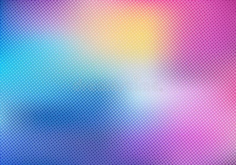 Bunter unscharfer Hintergrund mit Halbtoneffektüberlagerungsbeschaffenheit lizenzfreie abbildung