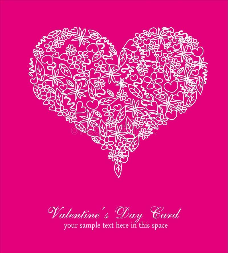 Bunter Valentinstag-Karten-Hintergrund Vektor Abbildung ...