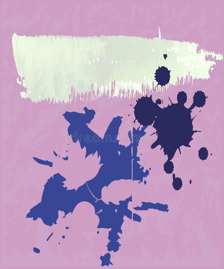 Bunter Vektorhintergrund des abstrakten vertikalen Schmutzes Beschaffenheit, lässt abstrakte Formen, Flecken lizenzfreie abbildung