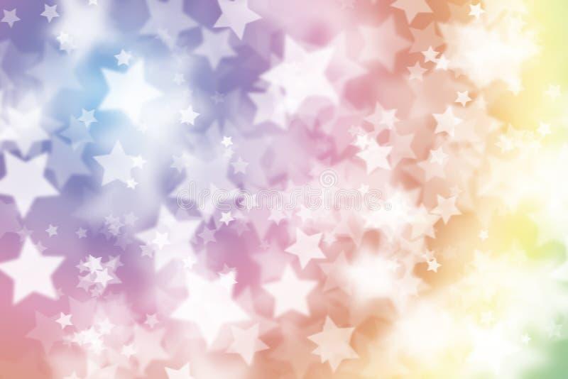 Bunter Weihnachtshintergrund mit Sternen vektor abbildung
