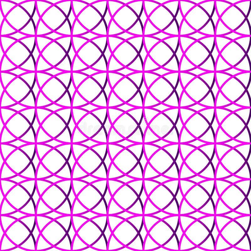 Bunter wiederholbarer Hintergrund mit schneidenen Kreisen Seamle lizenzfreie abbildung