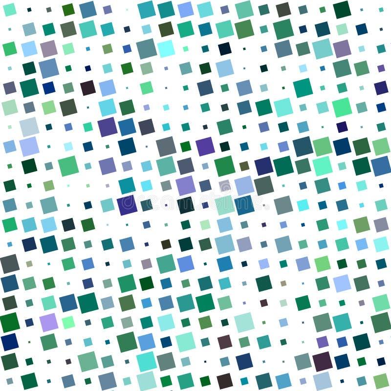 Buntes abstraktes eckiges quadratisches Musterdesign lizenzfreie abbildung