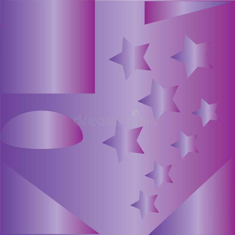 Buntes abstraktes Muster mit Sternen lizenzfreie abbildung