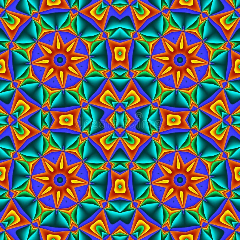 Buntes abstraktes nahtloses Muster mit Kreisverzierung Sie können lizenzfreie abbildung