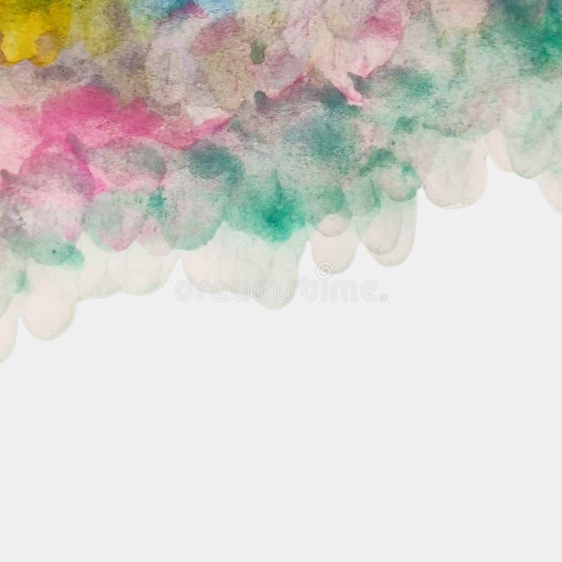 Buntes Aquarell-strukturierter Hintergrund von den Bürsten-Anschlägen lizenzfreie abbildung