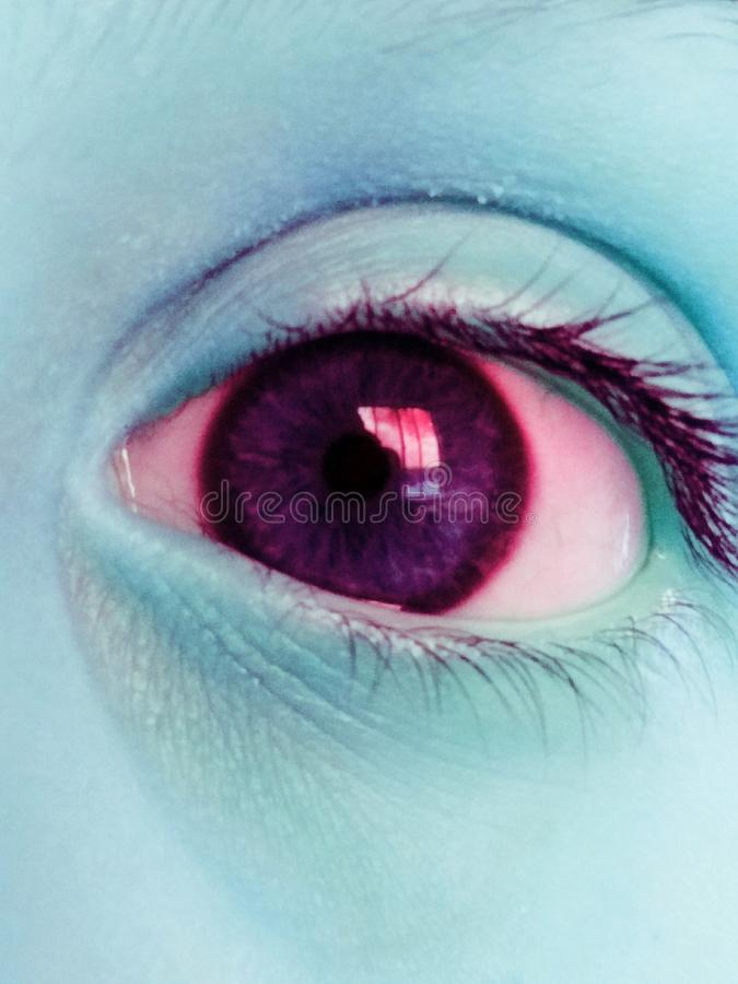 Buntes Auge stockfoto