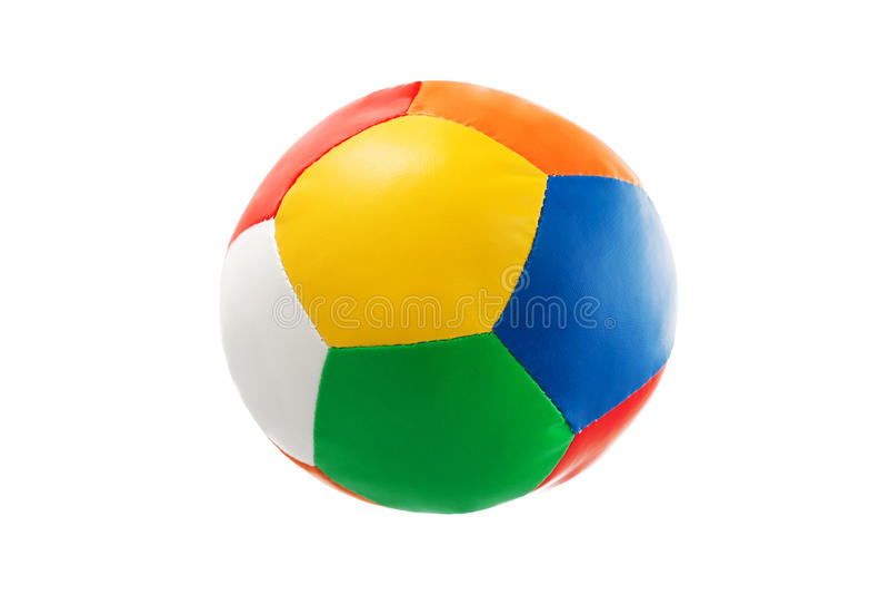 Buntes Ballspielzeug lokalisiert auf weißem Hintergrund stockbild