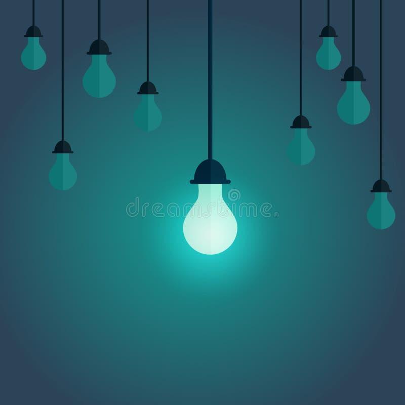 Buntes Bild der Schaltung auf der Lampe auf der Front und geschaltet von lizenzfreie abbildung