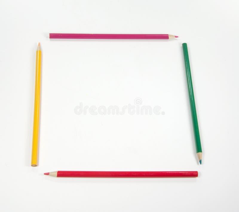 Buntes Bleistiftfeld stockbild