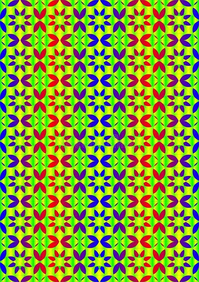 Buntes Blumenblatt von verschiedenen Arten vektor abbildung