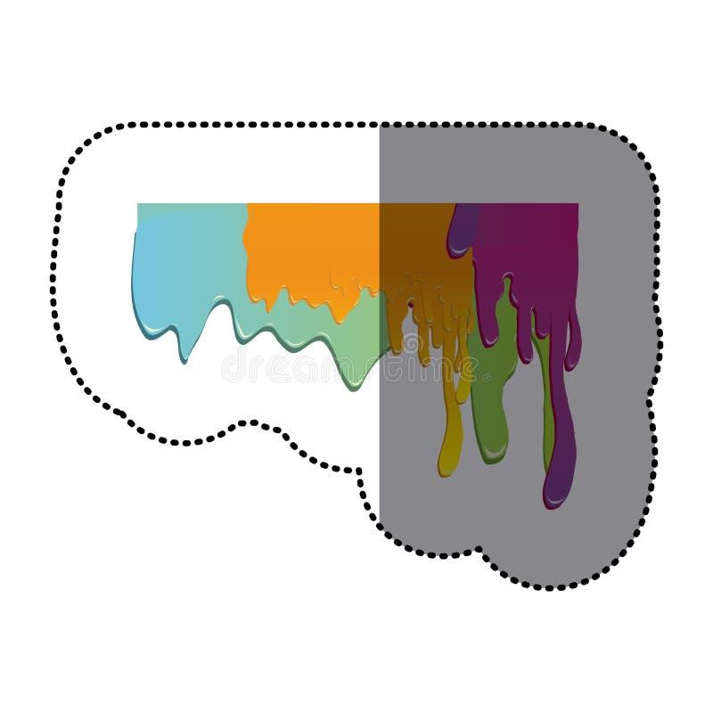 buntes Bratenfettdesign der Aufkleberfarbe vektor abbildung