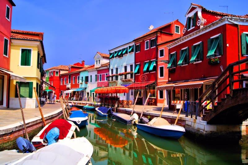 Buntes Burano, Italien Lizenzfreies Stockfoto