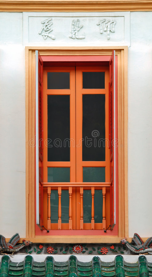 Buntes Chinatown-Fenster lizenzfreie stockfotografie