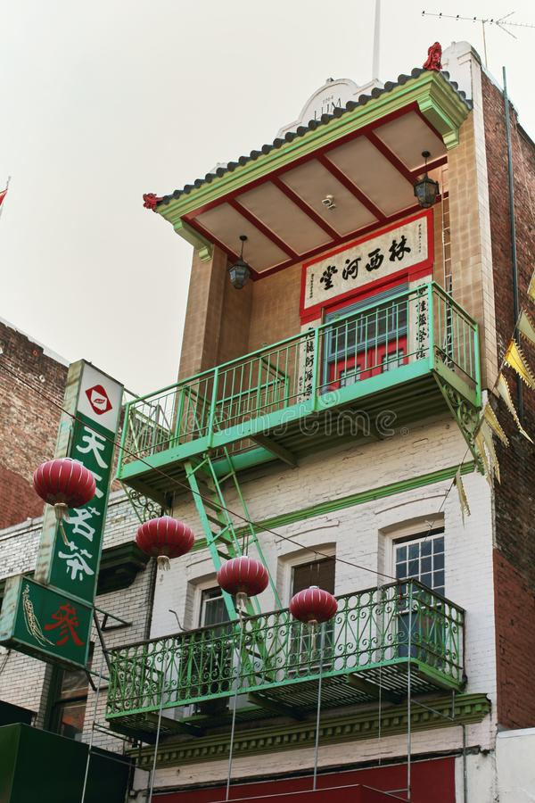 Buntes Chinatown in San Francisco, Kalifornien stockfotografie