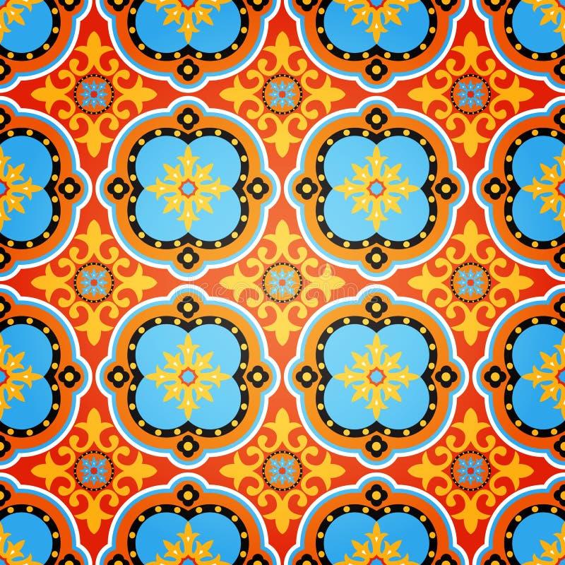 Buntes dekoratives nahtloses Muster stock abbildung