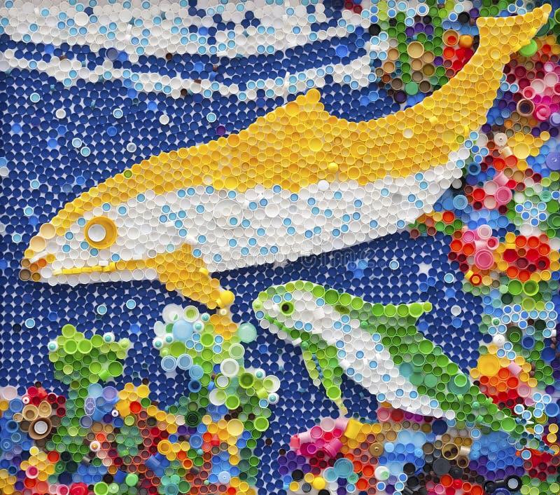 Buntes Delphinmosaik lizenzfreies stockbild