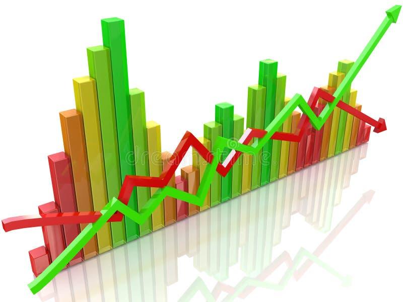 Buntes Diagramm stock abbildung