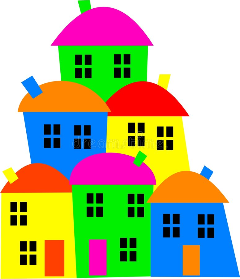 buntes dorf vektor abbildung illustration h 227 164 user 7586691