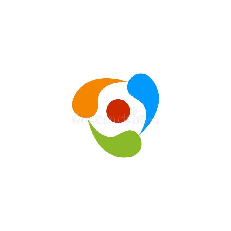 Buntes dreifaches Logo der Zusammenfassung stock abbildung