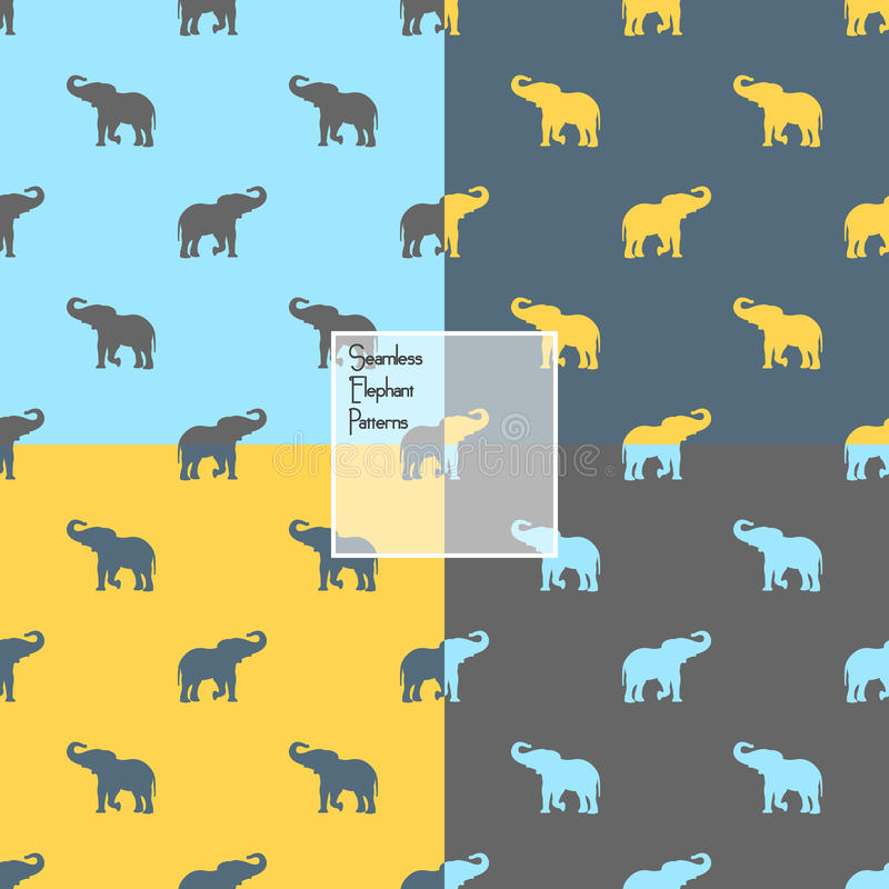 Buntes Elefantschattenbild stock abbildung