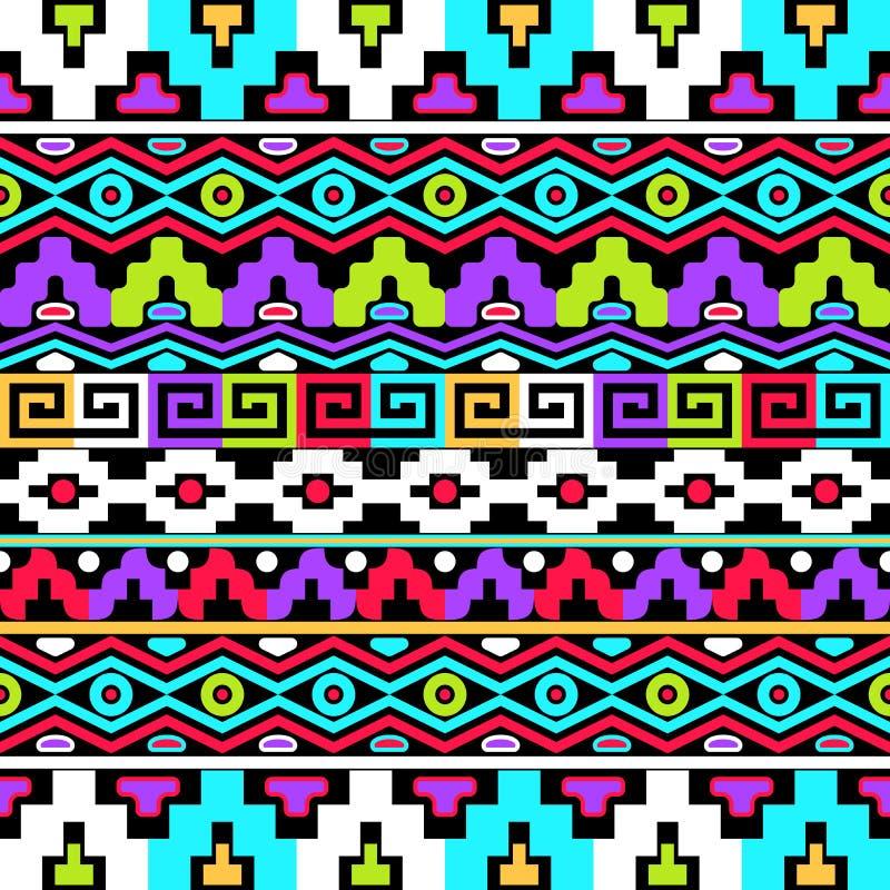 Buntes ethnisches nahtloses Muster lizenzfreie abbildung