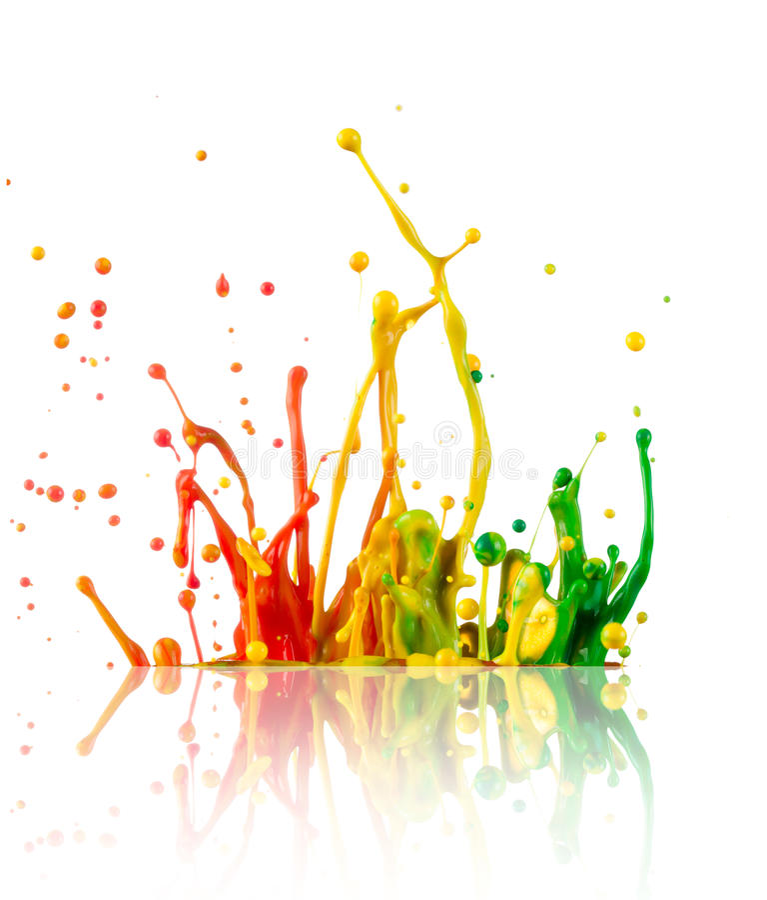 Buntes Farbenspritzen stockfoto